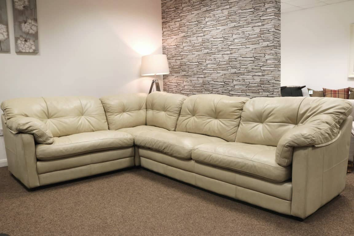 Bailey Famous Designer Brand Sectional Corner Leather